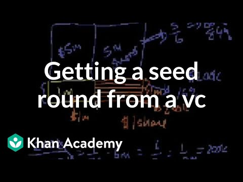 Getting a seed round from a VC | Stocks and bonds | Finance & Capital Markets | Khan Academy