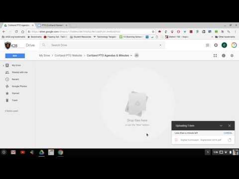 PTA PTO  Website - Add Agendas & Minutes