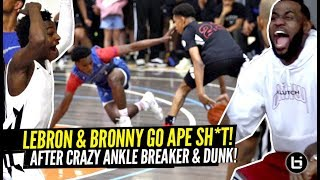 LeBron & Bronny LOSE THEIR MIND After CRAZY Ankle Breaker & Nasty POSTER DUNK!!! Game Gets HEATED!