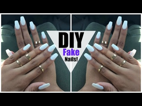 DIY: EASY FAKE Nails at HOME! (NO ACRYLIC)
