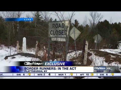 Video: Asylum seekers make illegal crossings into Canada