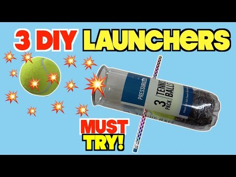 3 FUN Toys You Can Make At Home - DIY Launchers  (LIFE HACKS FOR KIDS)