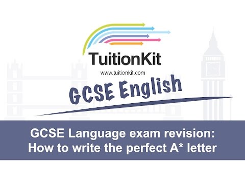 GCSE Language exam revision: How to write the perfect letter