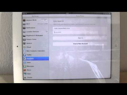 How to set up facetime on an apple IPad