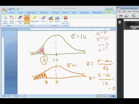 How to find the area under a normal curve