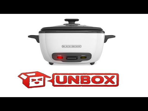 Unboxing - IRL Video - Black and Decker rice cooker Unboxing.