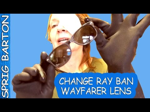 HOW TO CHANGE THE LENS IN RAYBAN WAYFARER SUNGLASSES LEFT