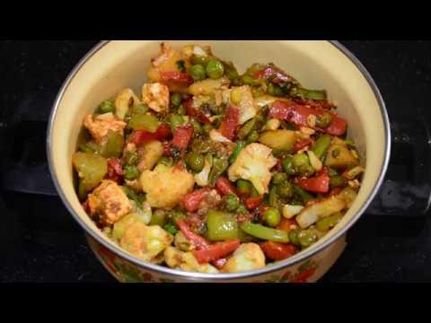 Jain Mix Vegetable Sabji Recipe | Mix Veg Sabzi Hindi |  Mixed Vegetable Recipe | No Onion No Garlic