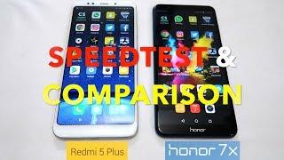 Xiaomi Redmi 5 Plus VS Honor 7X - Speedtest & Comparison In Hindi