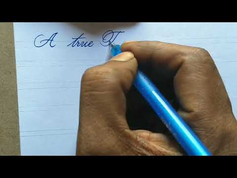 How to write Good handwriting with pen l cursive handwriting