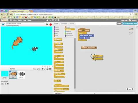 Simple Scratch Cat & Mouse Game Tutorial