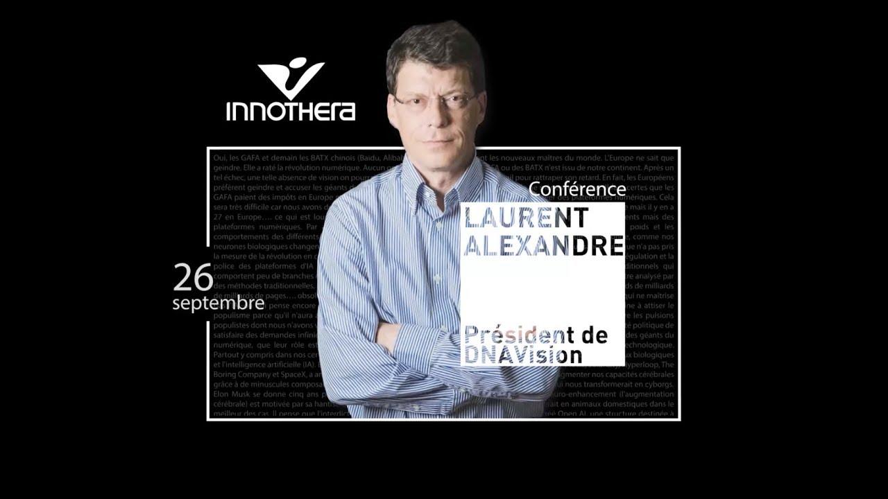 Intelligence artificielle et santé : conférence de Laurent Alexandre chez INNOTHERA
