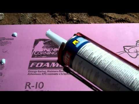 In slab radiant floor heating: step one - slab insulation