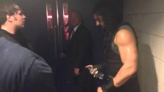 WWE The Shield Backstage on Raw (O2 Arena London)