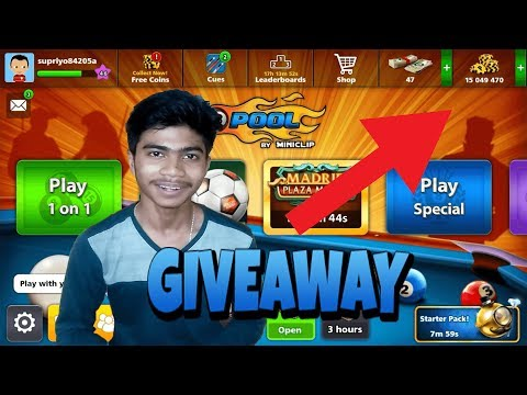 [GIVEAWAY] - 8 Ball Pool Account with 15 Million Coin ... Result ON Sunday // MUST WATCH ..