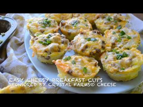 Cheesy sausage breakfast cups