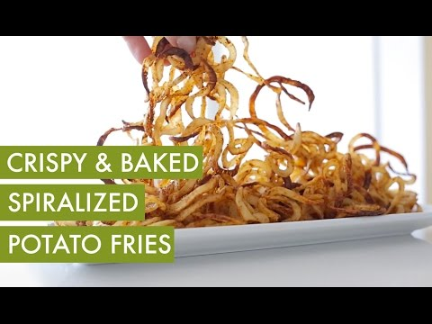 Spiralized Curly, Oven Baked Potato Fries I Vegan & Gluten Free Spiralizer Recipe