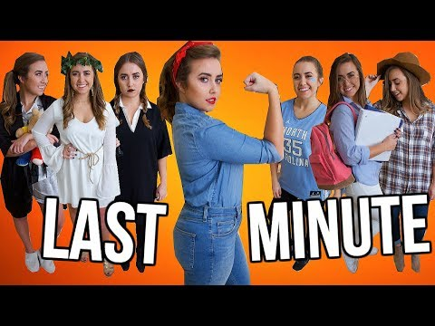 12 Last-Minute Halloween Costumes Using Items You ALREADY Own! | Halloween 2017