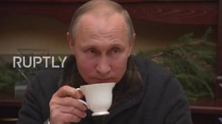 Russia: Putin meets fishermen friends on Christmas tour of St. George
