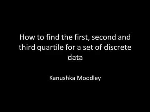 How to find the quartiles for a set of discrete data