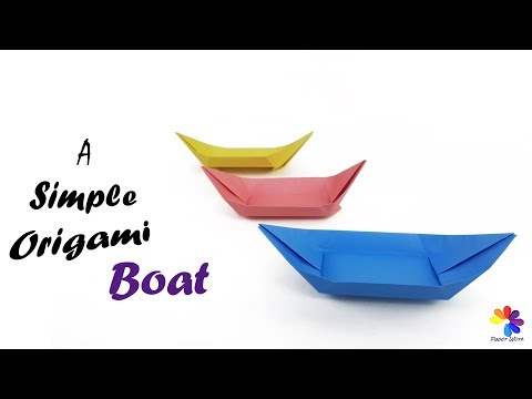 Origami Boat Paper Craft : How to make a simple origami boat canoe that floats in water for kids?