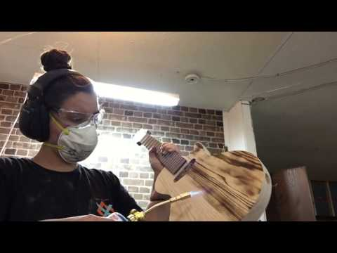Torched Swamp Ash Guitar Finish