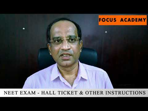 NEET EXAM   HALL TICKET & OTHER INSTRUCTIONS BY