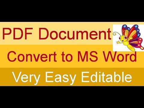 Scanned PDF Convert to Microsoft Word Document very Easy Editable by Gurukul