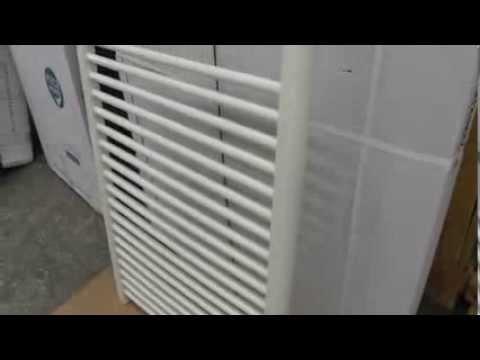 Straight white heated towel rail CLB-84