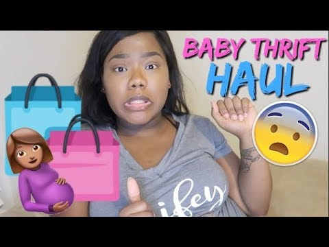 Thrift Shopping Haul For Baby Girl #2 | 34 Weeks Pregnant