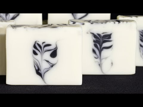 Secret Feather Swirl Cold Process Soap using Dividers