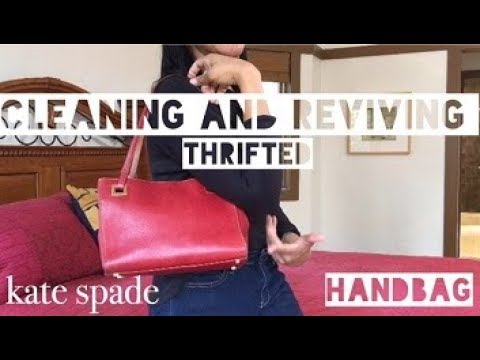 Cleaning and Reviving Thrifted Kate Spade| The Ultimate Challenge