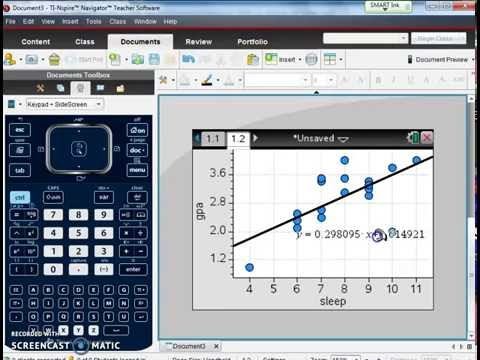 TI Nspire: Scatter Plots and Best-Fit Line