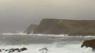 POWERFUL Thunderstorm & Ocean Sounds for Sleep or Study | Heavy Rain & Stormy Sea | 4K HD Video