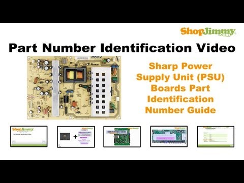 DIY TV Part Number Identification Guide for Sharp Power Supply Unit (PSU) Boards