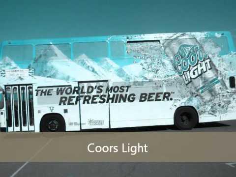 'Full Wrap' - London bus vehicle advertising. Phoenix, Arizona