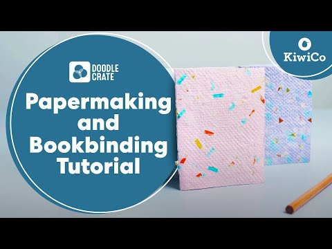 Learn Papermaking and Bookbinding - Doodle Crate Project