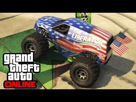 GTA 5 - Liberator Monster Truck Overview & Gameplay! Independence Day Update (GTA V Online)