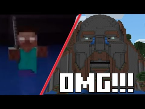 [MUST SEE!] I FOUND AND KILLED HEROBRINE IN THE TEMPLE OF NOTCH IN MCPE!