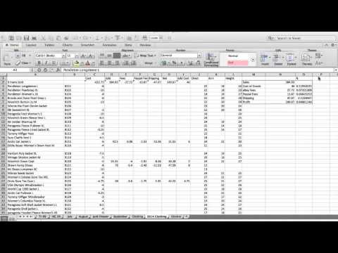 Track Your Sales! eBay Inventory Spreadsheet