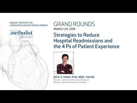 Strategies to Reduce Hospital Readmissions (BITA A. KASH, PhD) March 29, 2018 - LIVESTREAM RECORDING