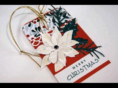Poinsettia Christmas Tag