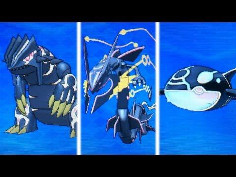 Shiny Primal Groudon,Kyogre,and Mega Rayquaza UNITE! (Pokemon Omega Ruby & Alpha Sapphire)