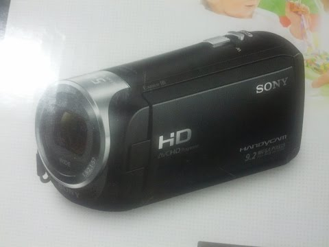 Sony HDR CX240 HD Handycam Unboxing & Zooming