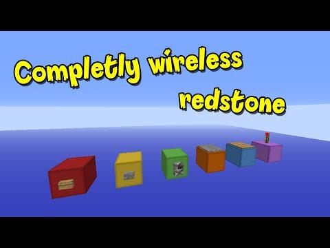100% Wireless redstone in Minecraft- Command blocks