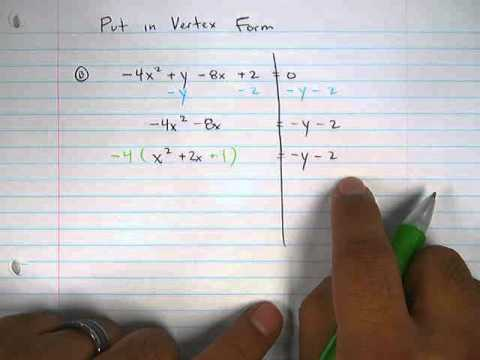 Moya Math Algebra 2 (Writing Quadratics in Vertex Form 6).avi