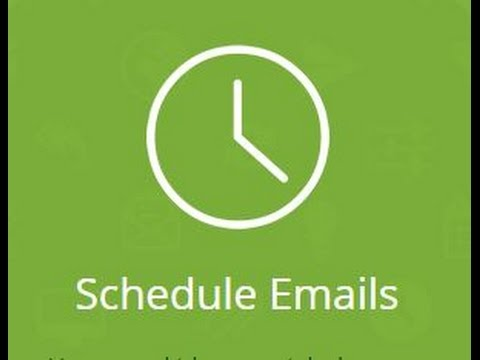 How to Set Timer to Send Email/Schedule Emails to be Sent Later