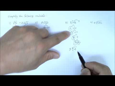 Simplify Radical Expressions Part 2