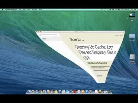 Cleaning Up Cache, Log Files and Temporary Files in OS X
