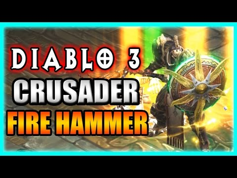 Diablo 3 Crusader Build - New Fire Hammer! Patch 2.3 Gameplay